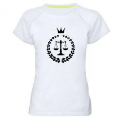 Купить Женская спортивная футболка Crown for a lawyer, FatLine