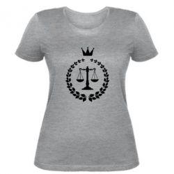 Женская футболка Crown for a lawyer