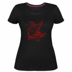 Жіноча стрейчева футболка Cry Baby bird cries