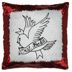 Подушка-хамелеон Cry Baby bird cries