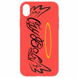 Чохол для iPhone XR Cry Baby with wings and halo