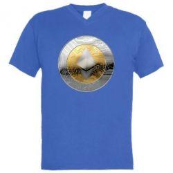 Мужская футболка  с V-образным вырезом Cryptomoneta