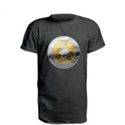 Удлиненная футболка Cryptomoneta