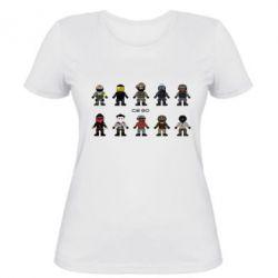 Женская футболка CS GO Heroes