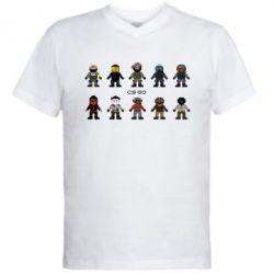 Мужская футболка  с V-образным вырезом CS GO Heroes