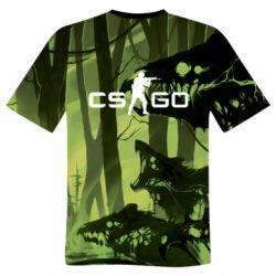 Мужская 3D футболка Cs go skin Virus - FatLine