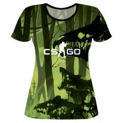 Женская 3D футболка Cs go skin Virus - FatLine