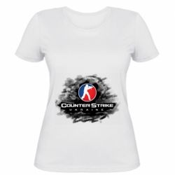 Женская футболка CS GO Ukraine black