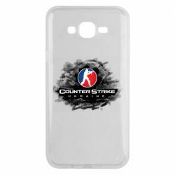 Чехол для Samsung J7 2015 CS GO Ukraine black