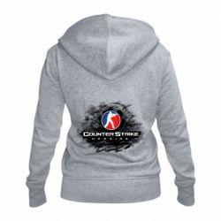 Женская толстовка на молнии CS GO Ukraine black