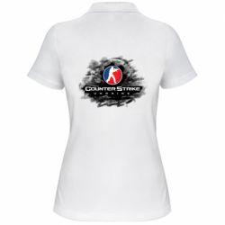 Женская футболка поло CS GO Ukraine black