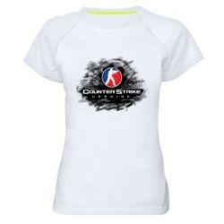 Женская спортивная футболка CS GO Ukraine black
