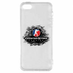 Чехол для iPhone5/5S/SE CS GO Ukraine black