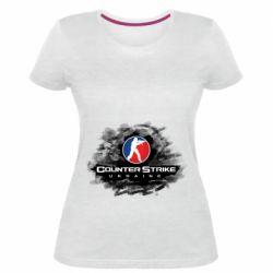 Женская стрейчевая футболка CS GO Ukraine black