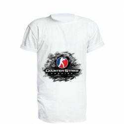 Удлиненная футболка CS GO Ukraine black