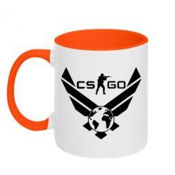 Кружка двухцветная CS GO