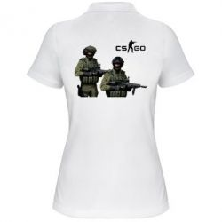 Женская футболка поло CS GO