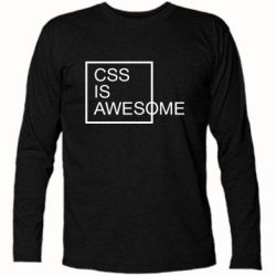 Футболка с длинным рукавом CSS is awesome