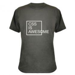 Камуфляжна футболка CSS is awesome
