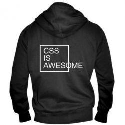Чоловіча толстовка на блискавці CSS is awesome