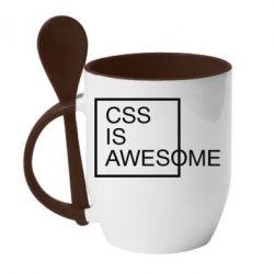 Кружка з керамічною ложкою CSS is awesome