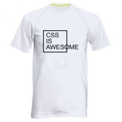 Мужская спортивная футболка CSS is awesome