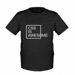 Детская футболка CSS is awesome