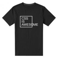 Чоловіча стрейчева футболка CSS is awesome