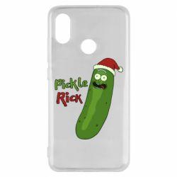 Чехол для Xiaomi Mi8 Cucumber Rick in a Christmas hat