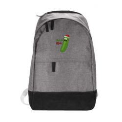 Городской рюкзак Cucumber Rick in a Christmas hat