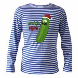 Тельняшка с длинным рукавом Cucumber Rick in a Christmas hat