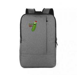 Рюкзак для ноутбука Cucumber Rick in a Christmas hat