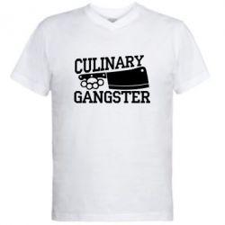Чоловіча футболка з V-подібним вирізом Culinary Gangster