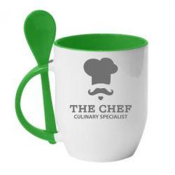 Кружка с керамической ложкой Culinary specialist