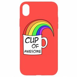 Чехол для iPhone XR Cup of awesome