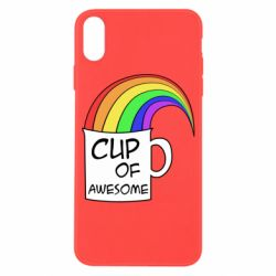 Чехол для iPhone X/Xs Cup of awesome