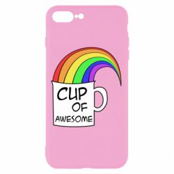 Чехол для iPhone 8 Plus Cup of awesome