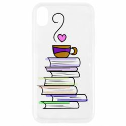 Чохол для iPhone XR Cup of tea and books
