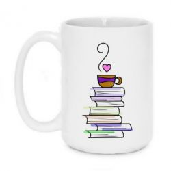Кружка 420ml Cup of tea and books