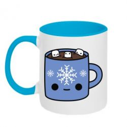 Кружка двухцветная 320ml Cup with a winter drink