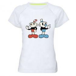 Женская спортивная футболка Cuphead