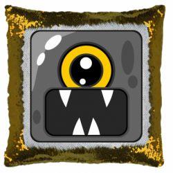 Подушка-хамелеон Cute black boss