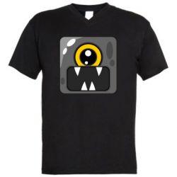 Чоловіча футболка з V-подібним вирізом Cute black boss