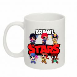 Кружка 320ml Cute Brawl Stars Heroes