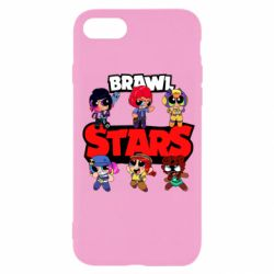 Чехол для iPhone 7 Cute Brawl Stars Heroes