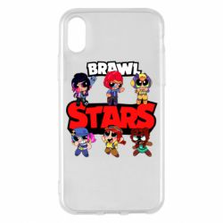 Чехол для iPhone X/Xs Cute Brawl Stars Heroes