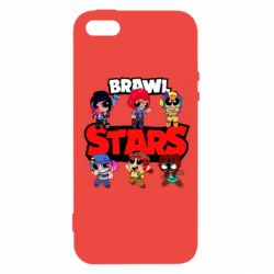 Чехол для iPhone5/5S/SE Cute Brawl Stars Heroes