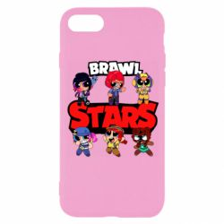 Чехол для iPhone 8 Cute Brawl Stars Heroes