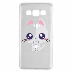 Чохол для Samsung A3 2015 Cute cat with big eyes