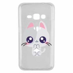 Чохол для Samsung J1 2016 Cute cat with big eyes